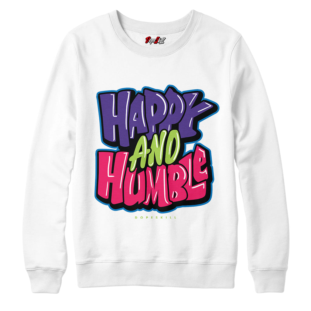 "Happy and Humble Crewneck Sweatshirt Match Air Jordan 5 ""Bel-Air"""