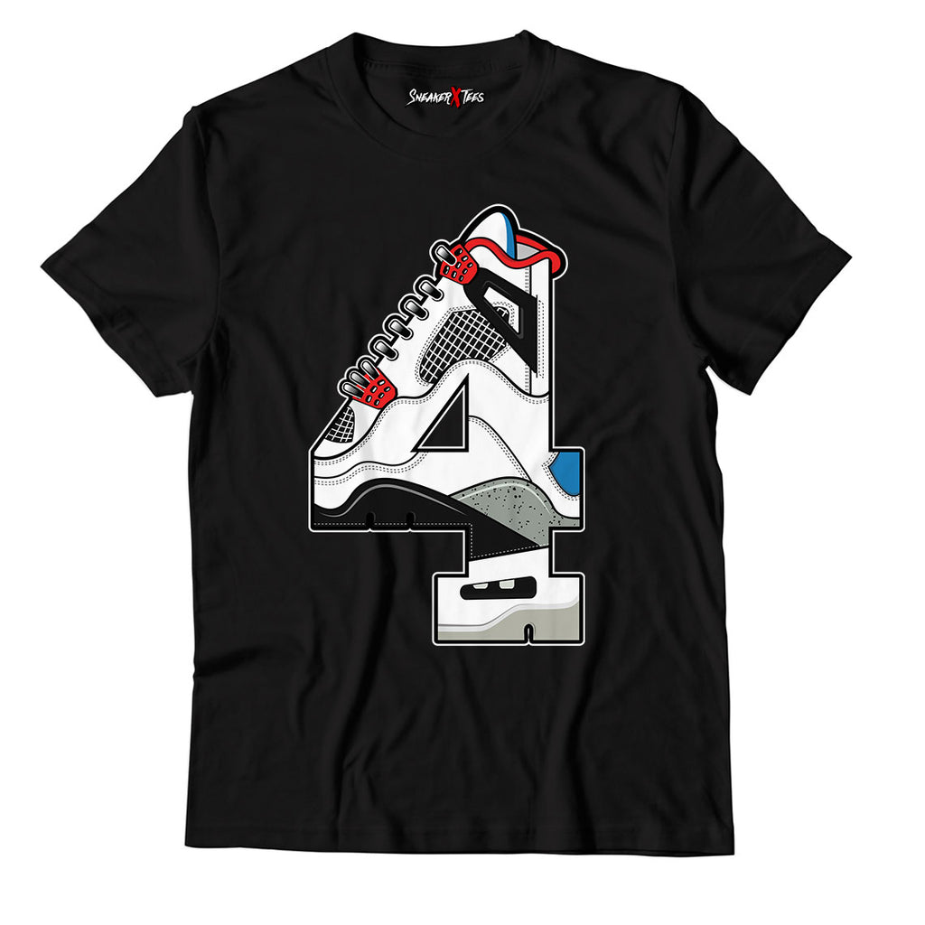 The 4's Unisex TShirt Match Air Jordan 4 What The