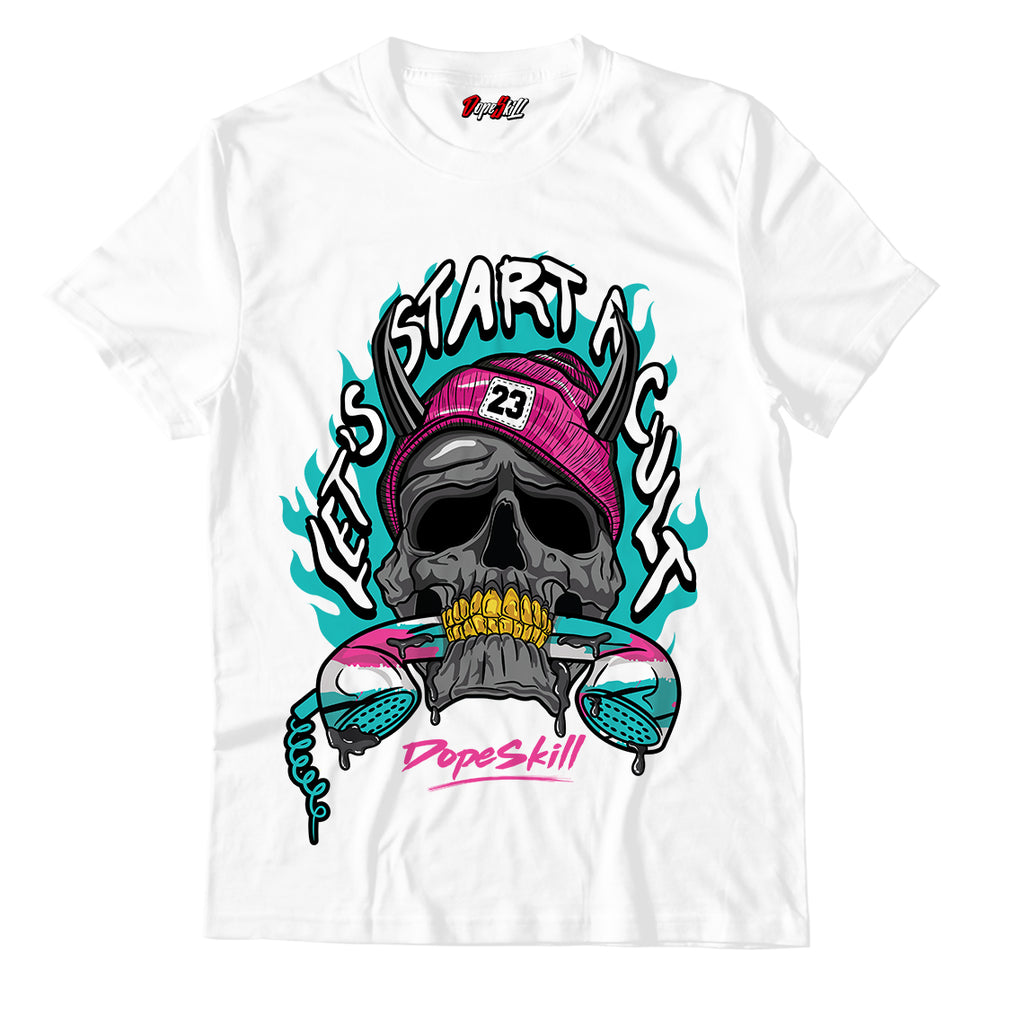 Let's Start A Cult Unisex TShirt Match Air Jordan 8 Retro 'South Beach'