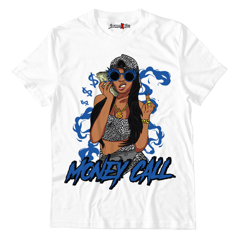 Money Call Unisex TShirt Match Air Jordan 3 Varsity Royal