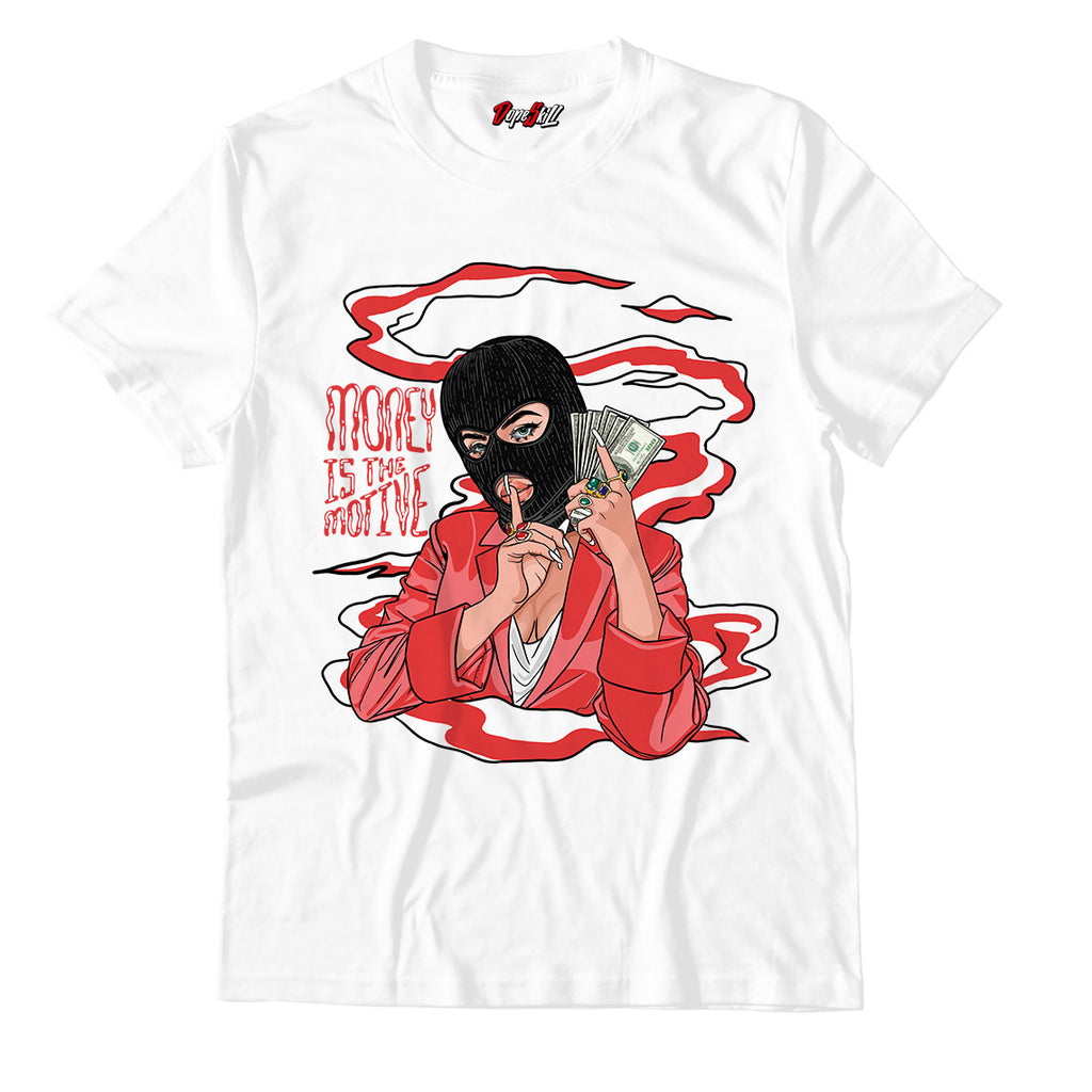 Money Is The Motive Unisex TShirt Jordan 1 Mid Chicago Toe - Jordan 1 Retro High Satin Snake Chicago