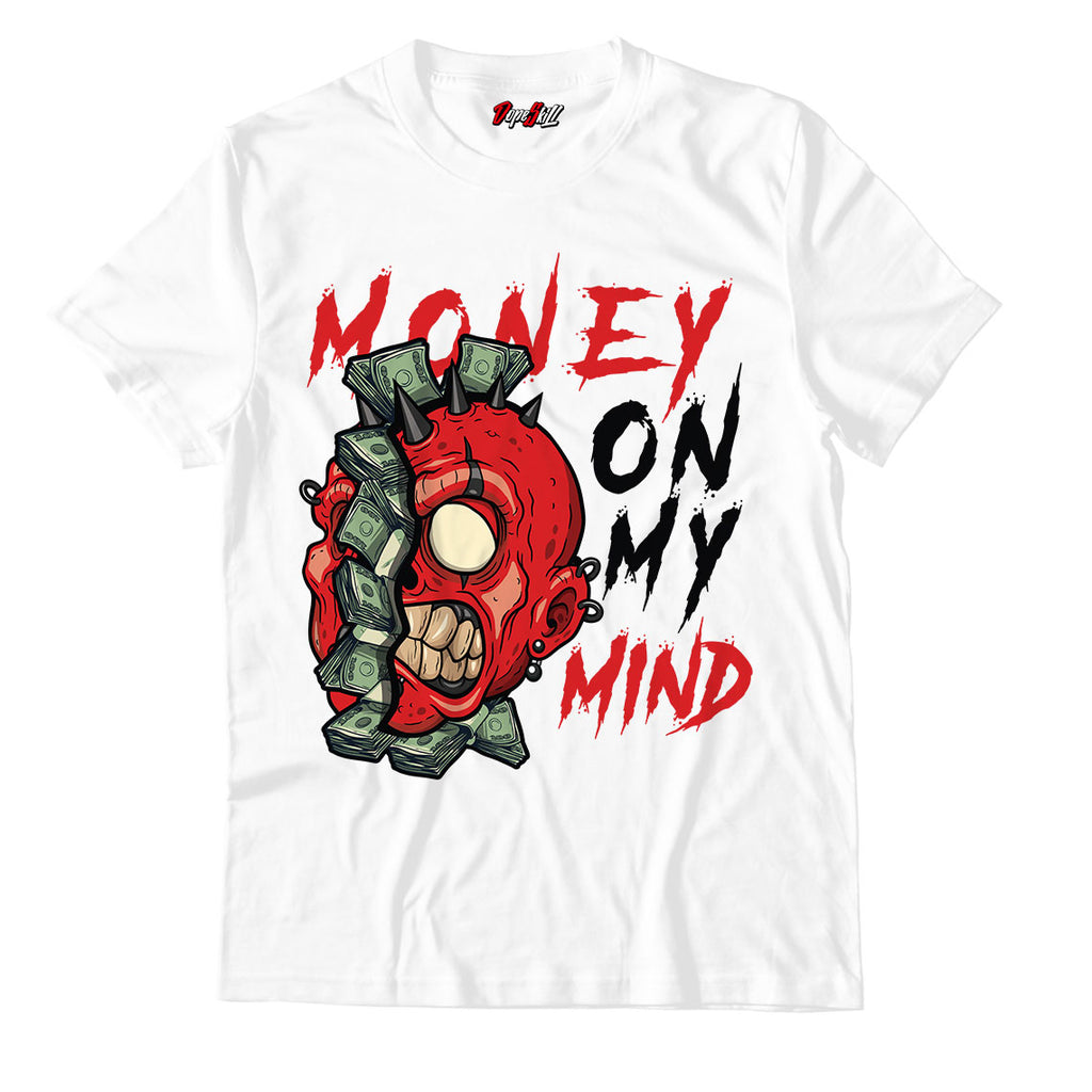 Money On My Mind Unisex TShirt Jordan 1 Mid Chicago Toe - Jordan 1 Retro High Satin Snake Chicago