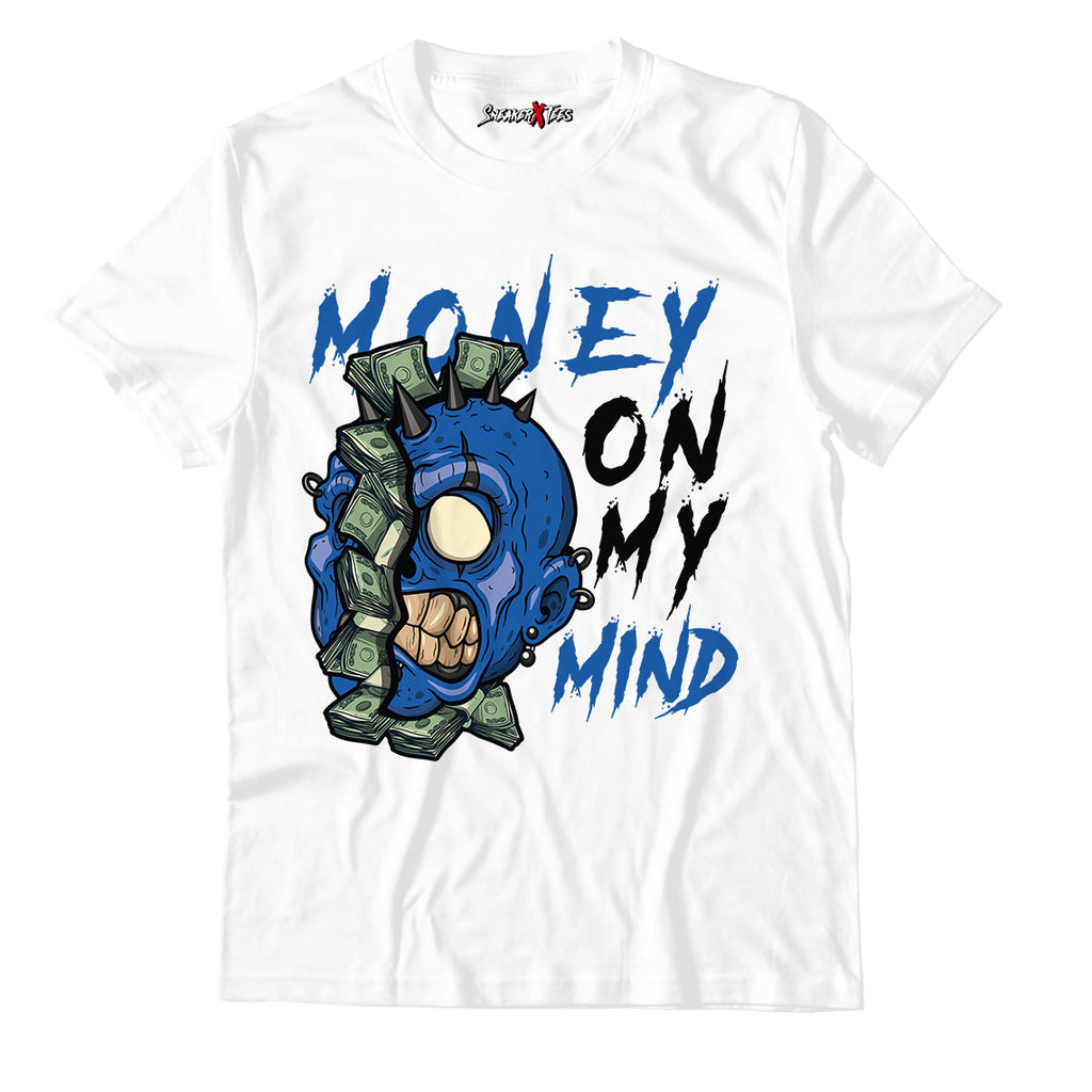 Money On My Mind Unisex TShirt Match Retro Jordan 1 Royal Toe