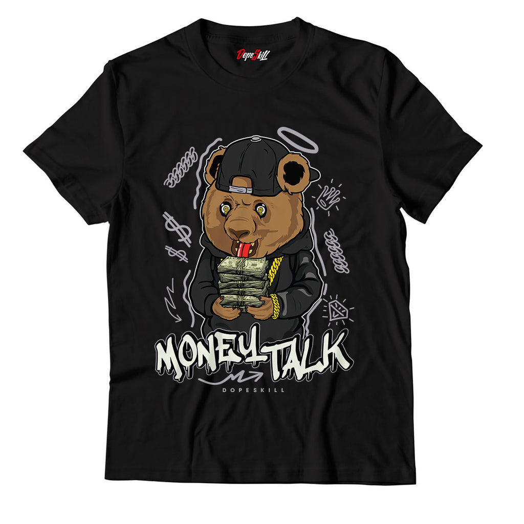 "Money Talk Bear Unisex TShirt Match Yeezy Boost 350 V2 ""Carbon"""