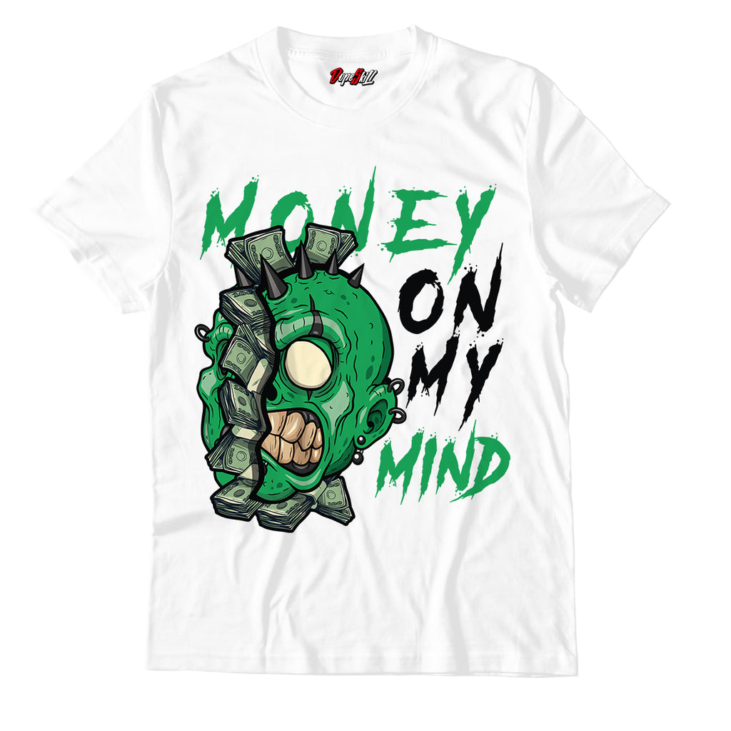 "Money On My Mind White Unisex TShirt Match Air Jordan 13 ""Lucky Green"""