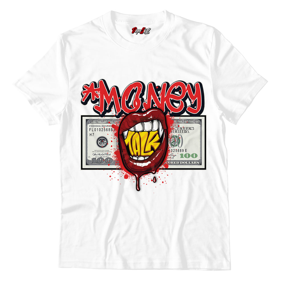 Money Talk Unisex TShirt Match Jordan 1 Mid Chicago Toe - Jordan 1 Retro High Satin Snake Chicago