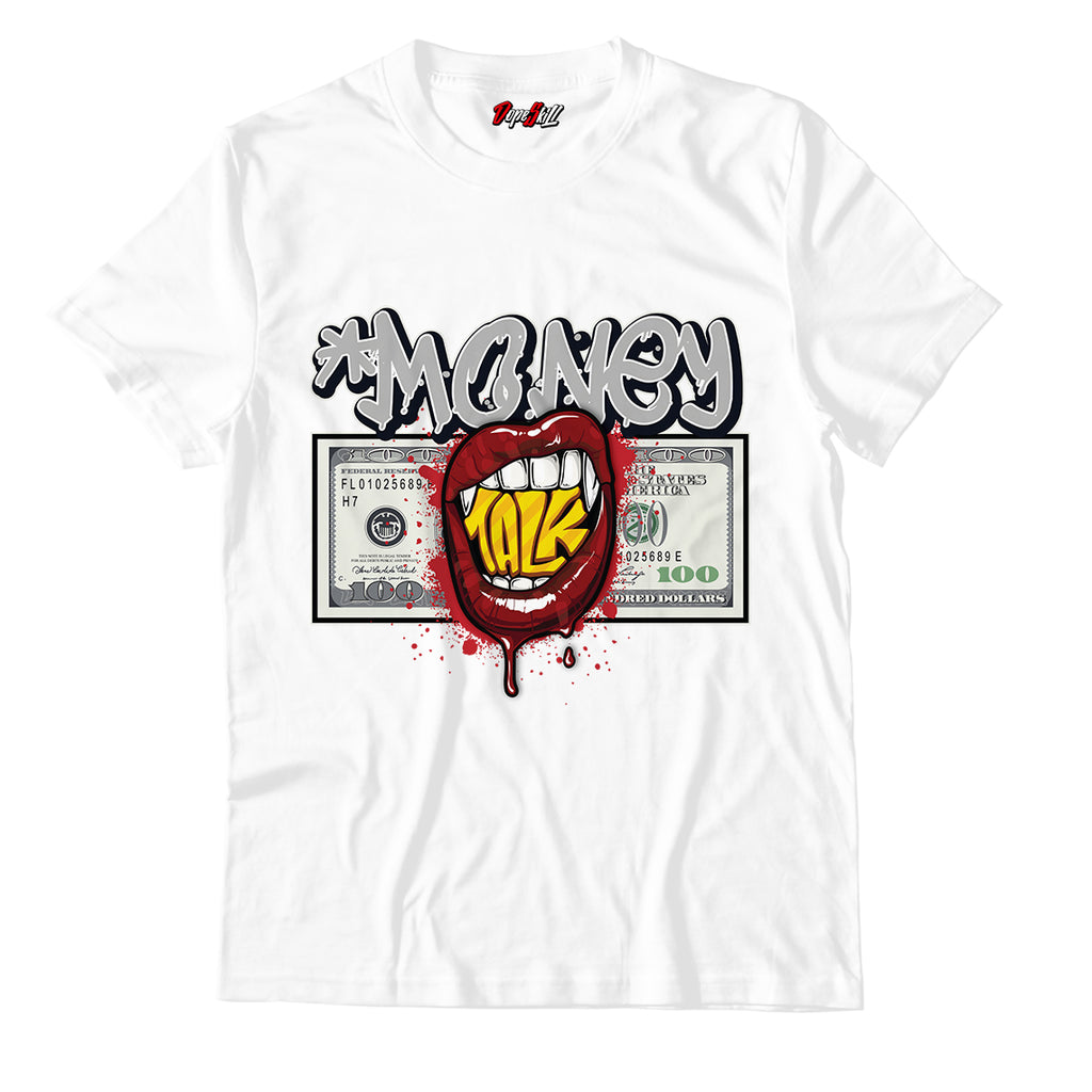Money Talk Unisex TShirt Match Jordan 1 Retro High Light Smoke Grey