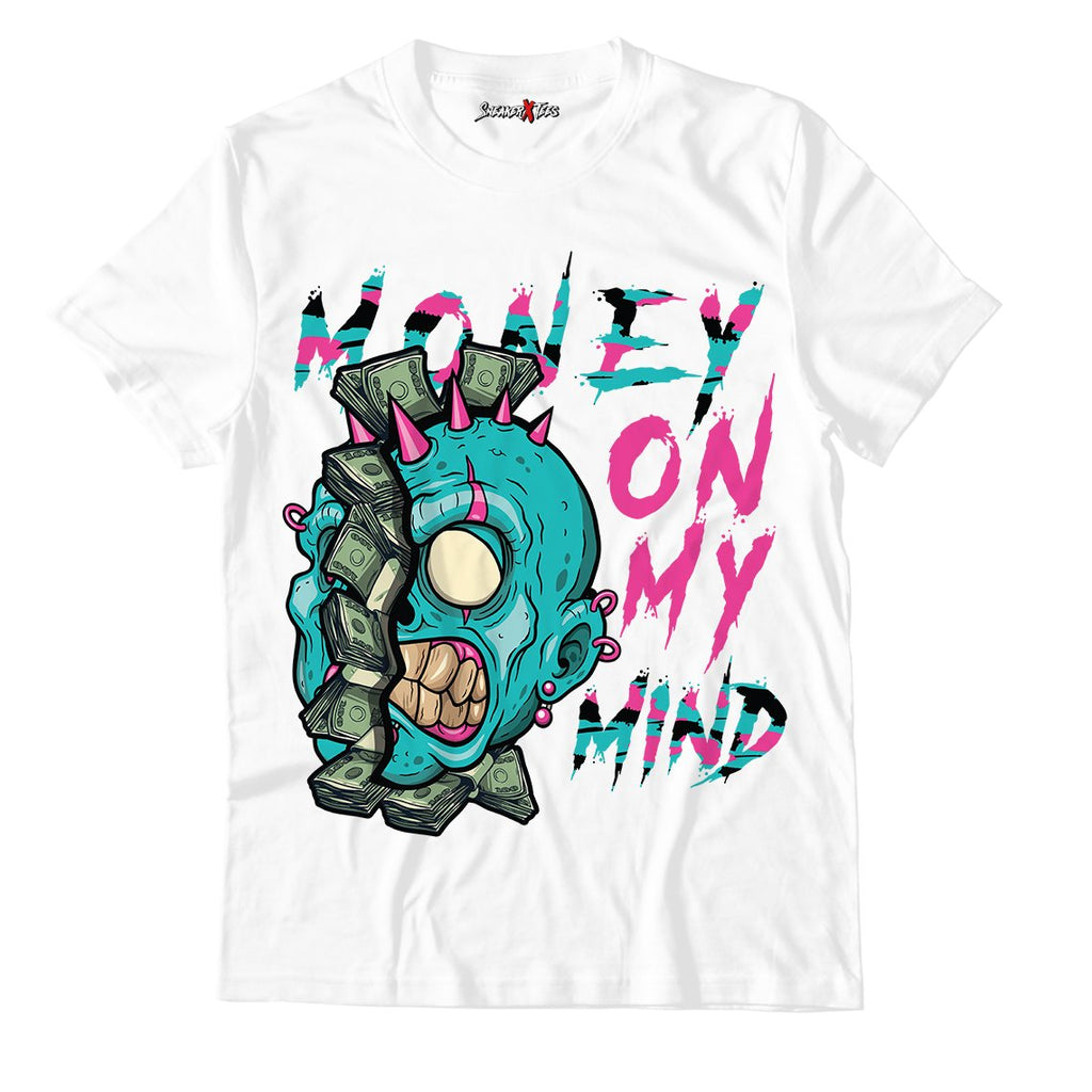 Money On My Mind White Unisex TShirt Match Air Jordan 8 Retro 'South Beach'