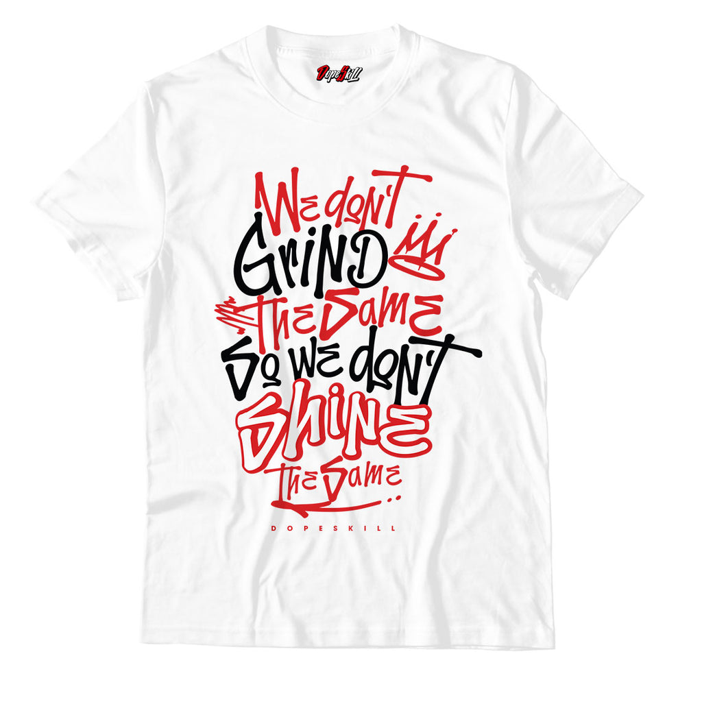 New Grind Shine Unisex TShirt Jordan 1 Mid Chicago Toe - Jordan 1 Retro High Satin Snake Chicago