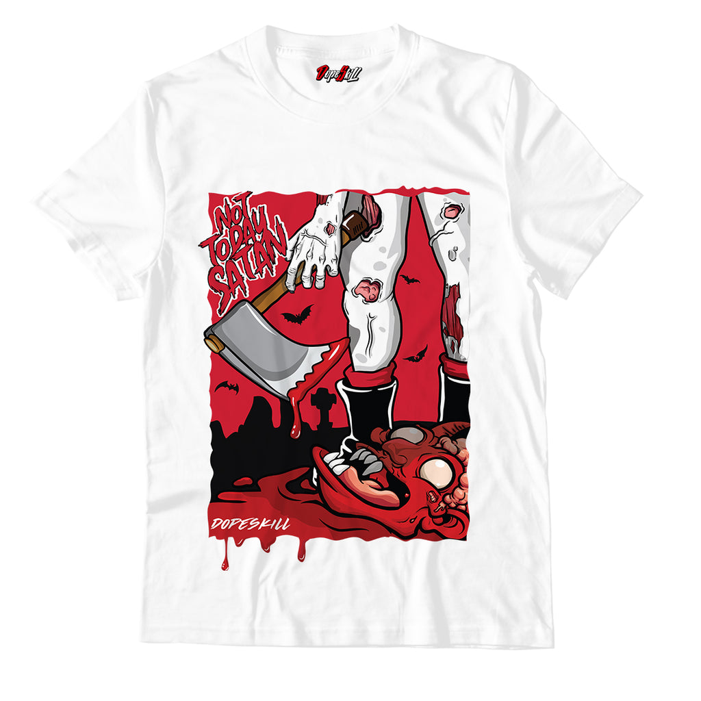 Not Today Satan Halloween Unisex TShirt Match Jordan 11 Retro Low Concord Bred GS