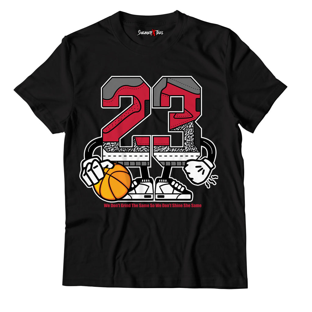 Number 23 Unisex TShirt Match Jordan 3 Retro Fire Red Cement