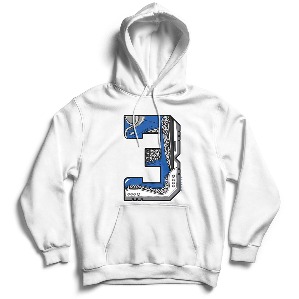 Number 3 Unisex Hoodie Match Air Jordan 3 Varsity Royal