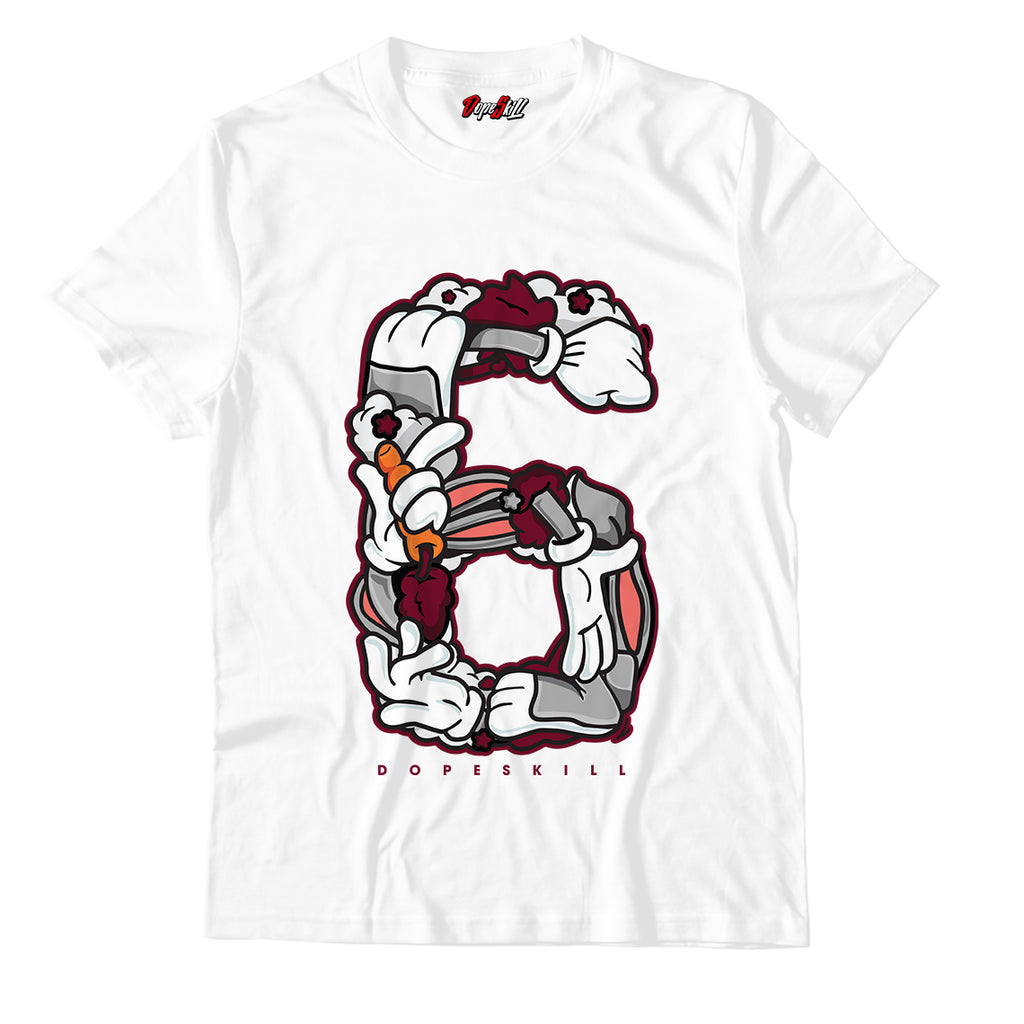 Number 6 Unisex TShirt Match Air Jordan 6 Retro 'Maroon'