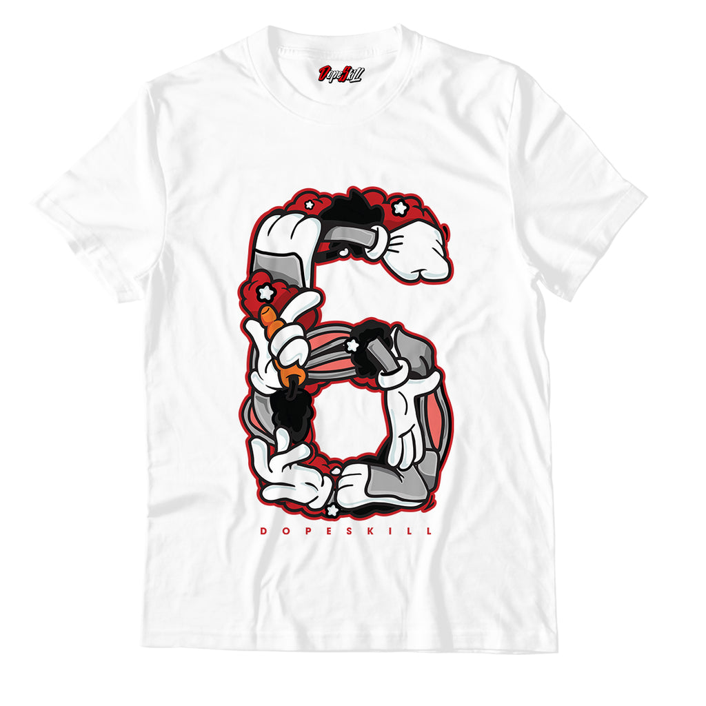 Number 6 Unisex TShirt Match Air Jordan Retro 6 Carmine