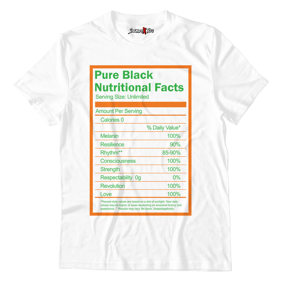 Pure Nutritional Facts Unisex TShirt Match SB Dunk Low Orange Bear
