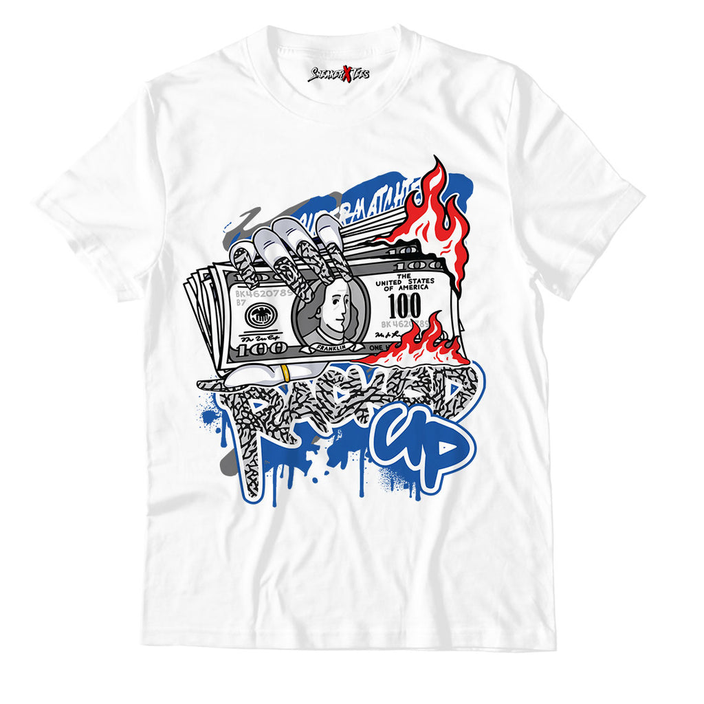 Racked Up Unisex TShirt Match Air Jordan 3 Varsity Royal