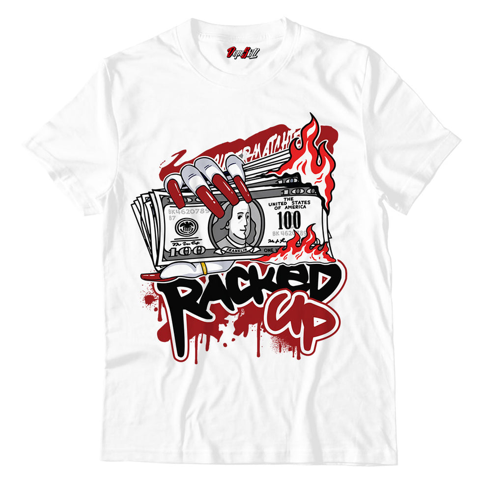 Racked Up Unisex TShirt Match Jordan 1 Retro High Satin Snake Chicago