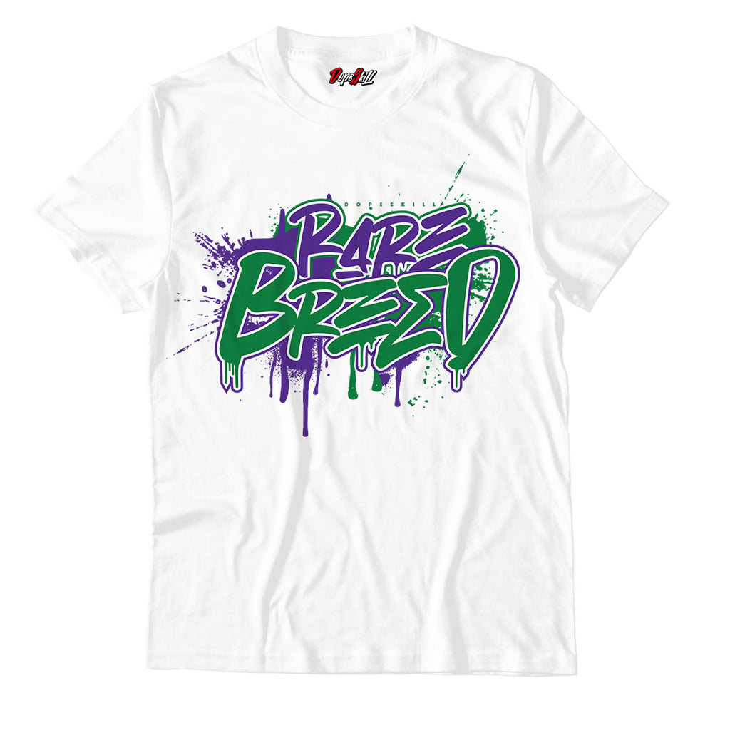 Rare Breed Unisex TShirt Air Jordan 1 Aloe Verde Court Purple