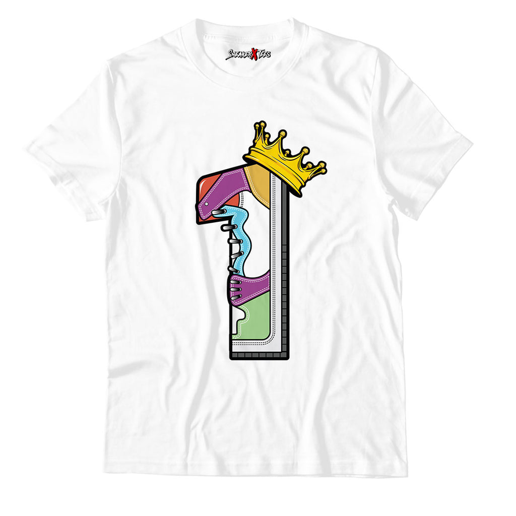 The 1's Unisex TShirt Match Air Jordan 1 Mid Multicolor
