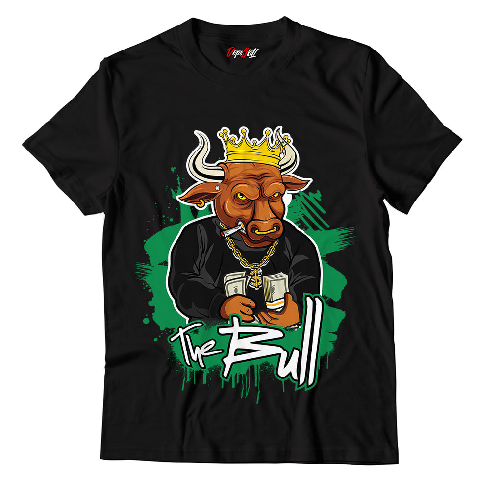 The Bull Unisex TShirt Match Jordan 1 Pine Green