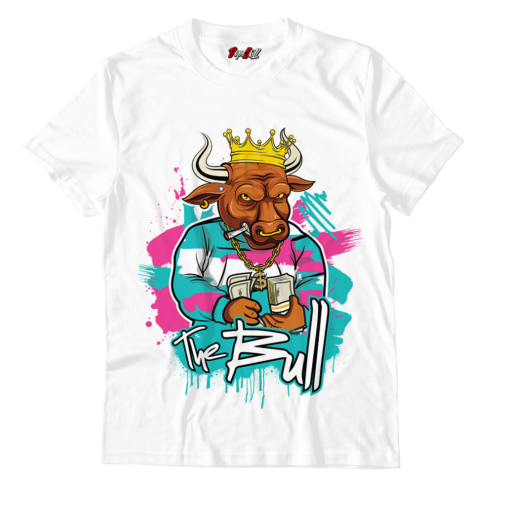 The Bull Unisex TShirt Match Air Jordan 8 Retro 'South Beach'