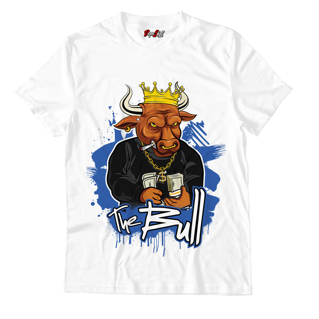 The Bull Unisex TShirt Match Retro Jordan 1 Royal Toe