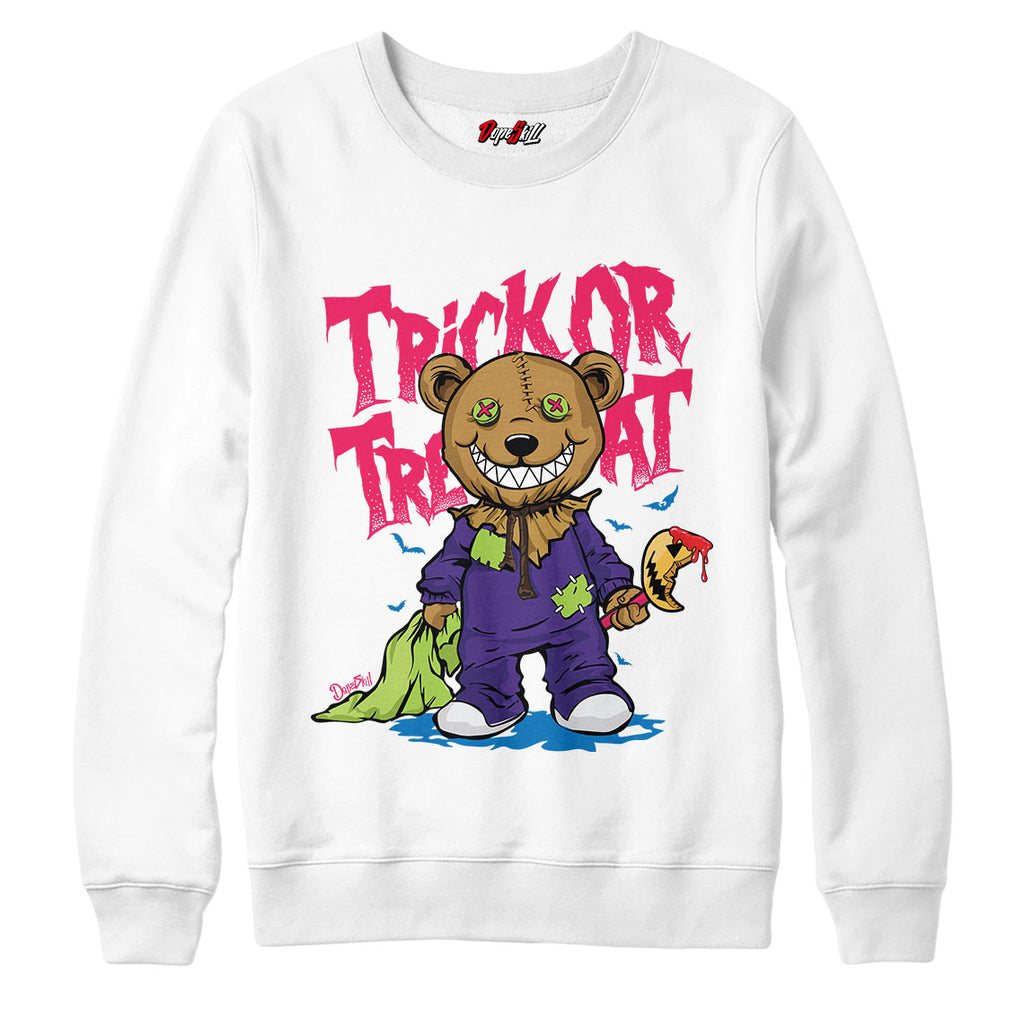 "Trick Or Treat Halloween Crewneck Sweatshirt Match Air Jordan 5 ""Bel-Air"""