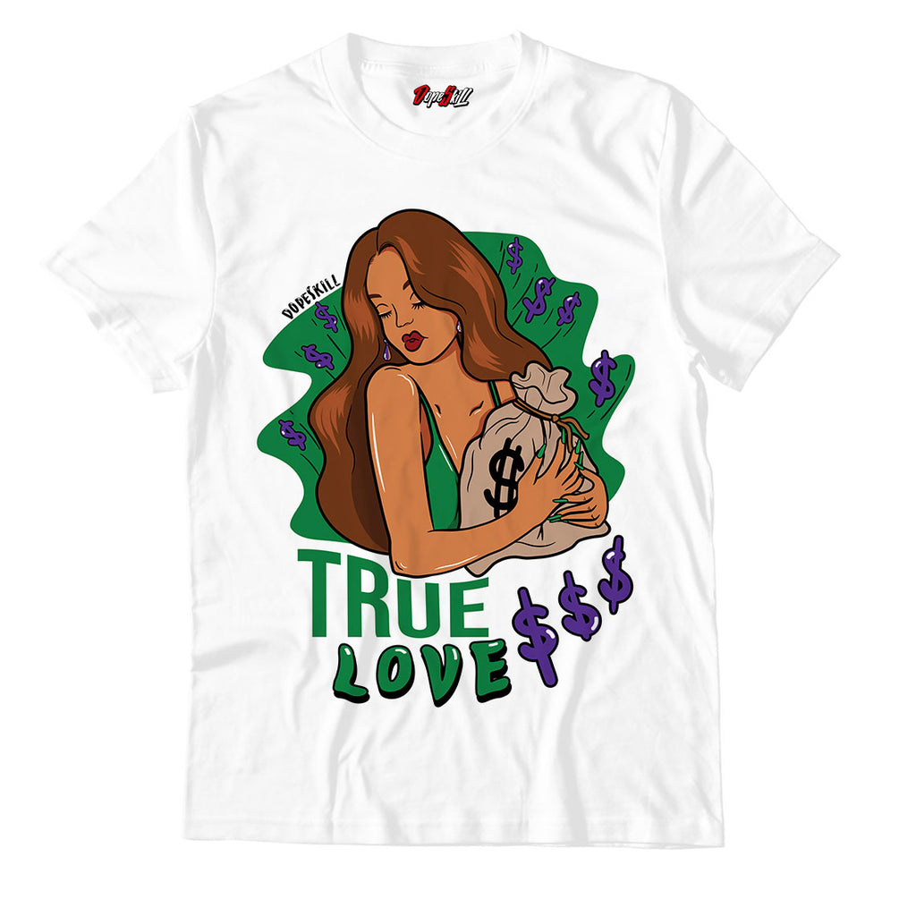 True Love Unisex TShirt Air Jordan 1 Aloe Verde Court Purple