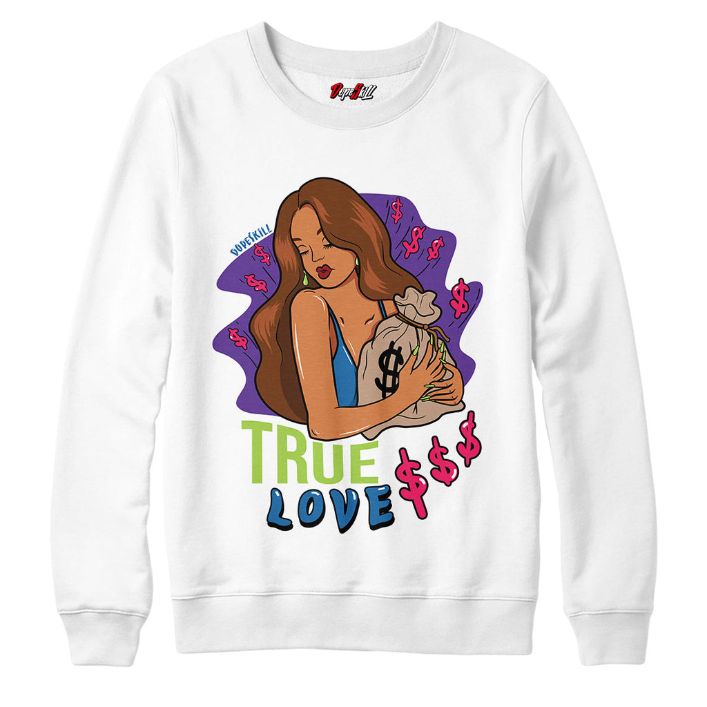 "True Love Crewneck Sweatshirt Match Air Jordan 5 ""Bel-Air"""