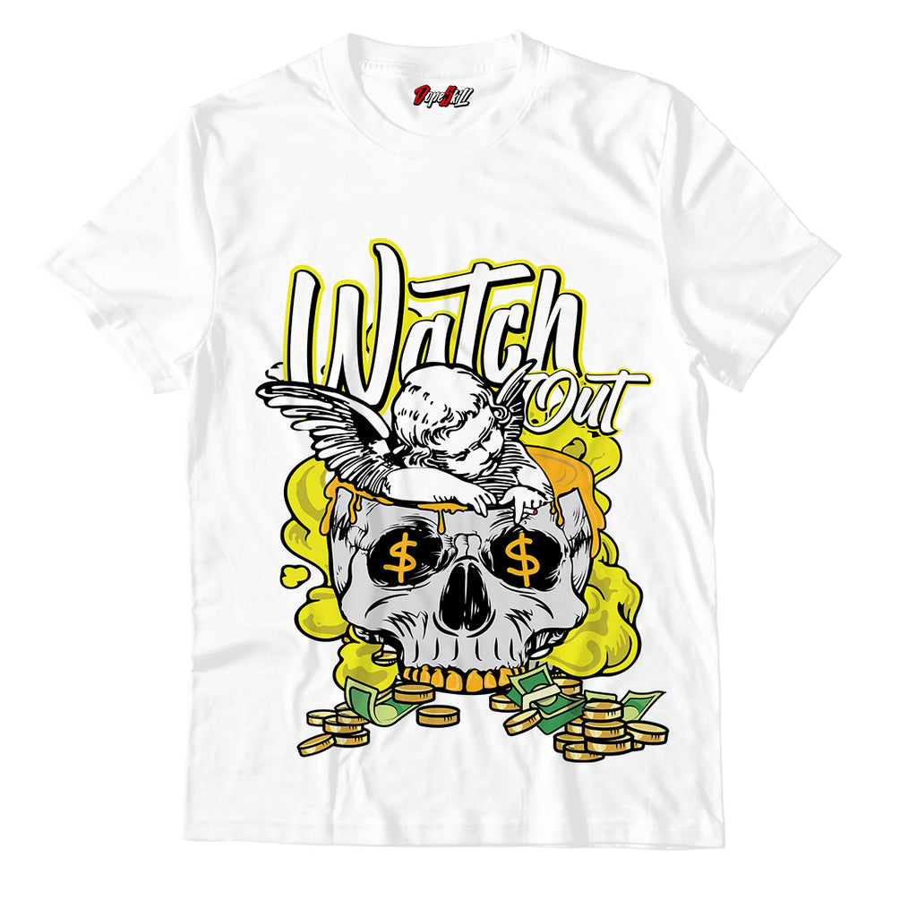 Watch Out Unisex TShirt Match Jordan 1 Mid Flower Yellow