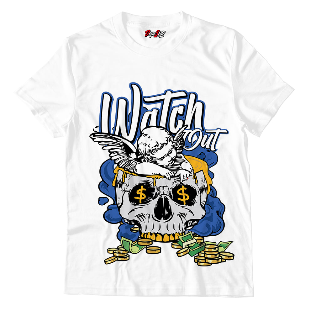 Watch Out Unisex TShirt Match Retro Jordan 1 Royal Toe