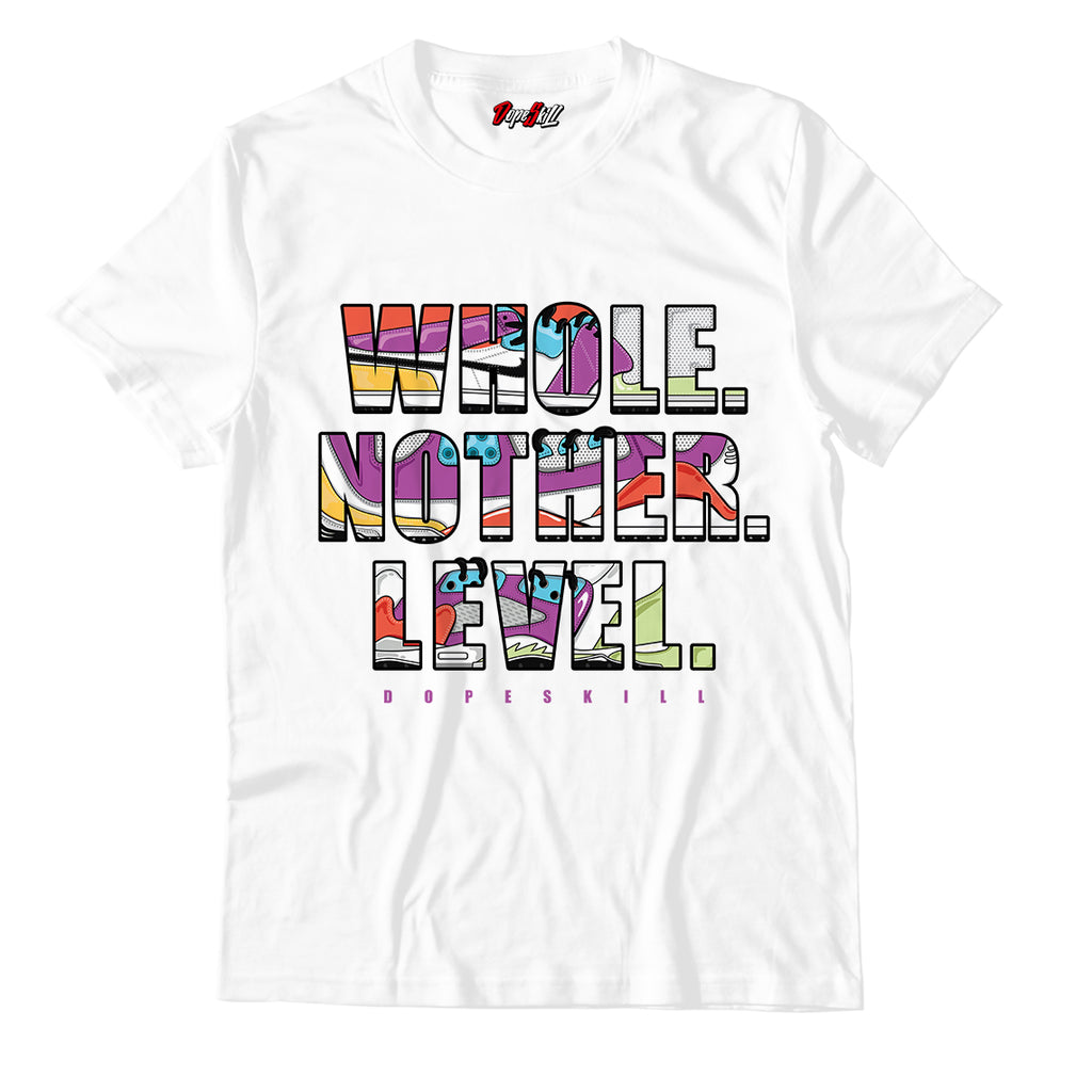 Whole. Nother. Level Unisex TShirt Match Air Jordan 1 Mid Multicolor