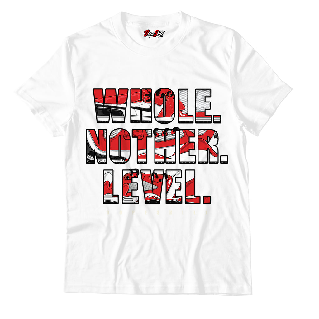 Whole. Nother. Level Unisex TShirt Match Jordan 1 Mid Chicago Toe - Jordan 1 Retro High Satin Snake Chicago