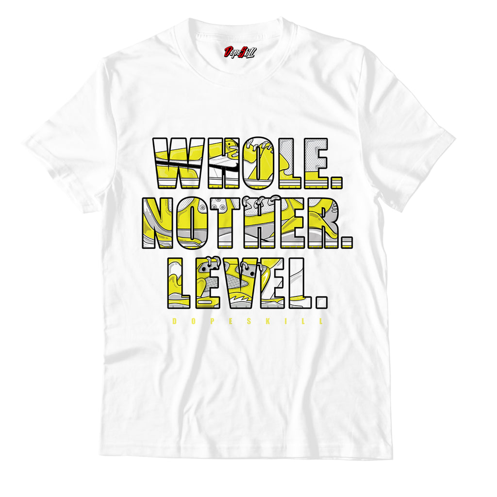 Whole. Nother. Level Unisex TSshirt Match Jordan 1 Mid Flower Yellow