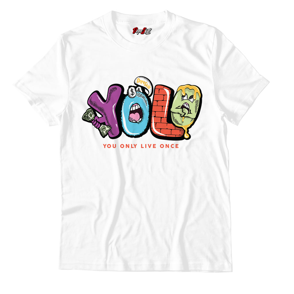 Y.O.L.O Unisex TShirt Match Air Jordan 1 Mid Multicolor