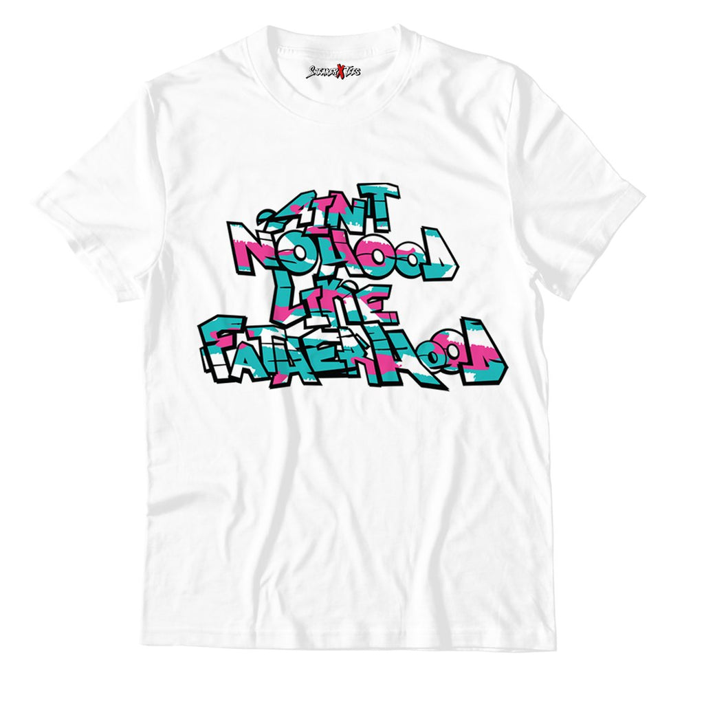 Ain't No Hood Like Fatherhood White Unisex TShirt Match Air Jordan 8 Retro 'South Beach'