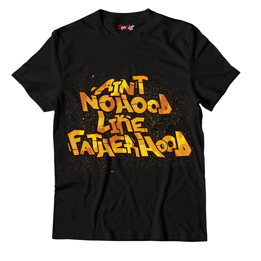 Ain't No Hood Like Fatherhood Unisex Unisex TShirt Nike Air VaporMax Plus University Gold
