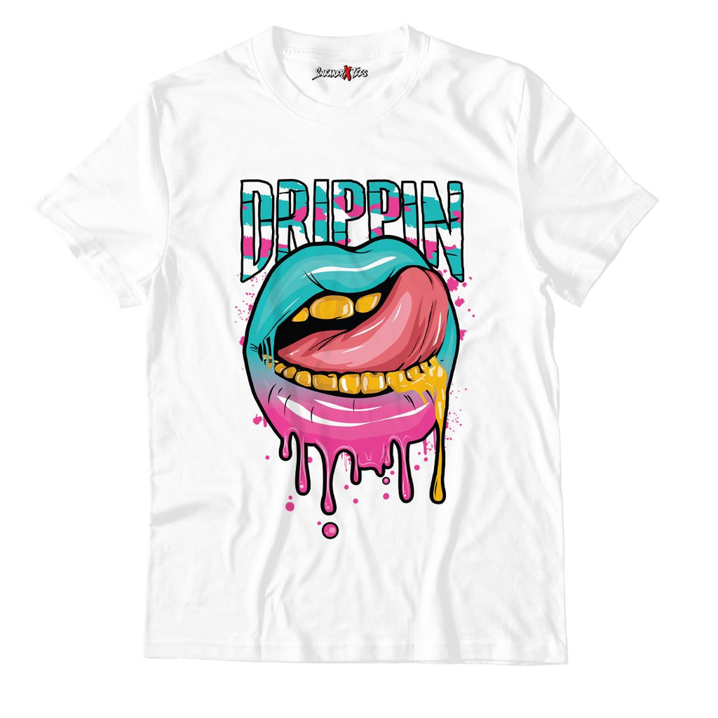 Drippin White Unisex TShirt Match Air Jordan 8 Retro 'South Beach'