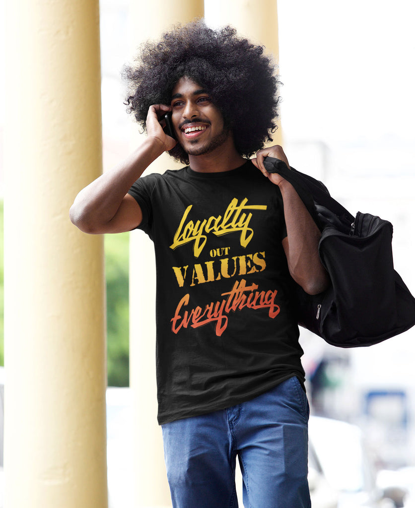 Loyalty Out Values Everything Black Unisex TShirt Air Vapormax Plus 'Sunset'