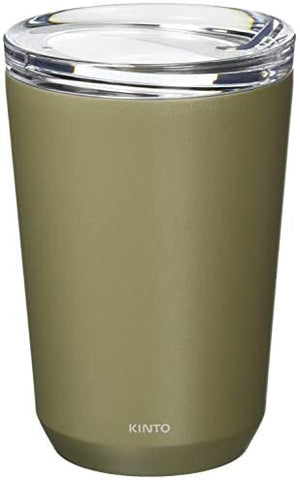Kinto To-Go Tumbler 360ml (12 oz) φ86xH128mm Khaki - Double Walled And Vacuum Insulated, Which Keeps Your Favorite Beverage Hot Or Cold For Hours