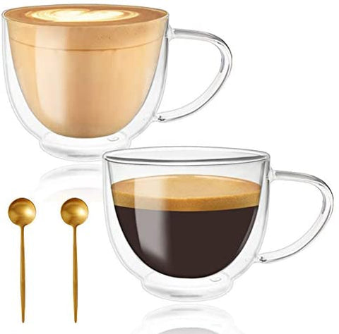 Glass Coffee Mugs, Espresso Cups, Drinking Glasses for Coffee