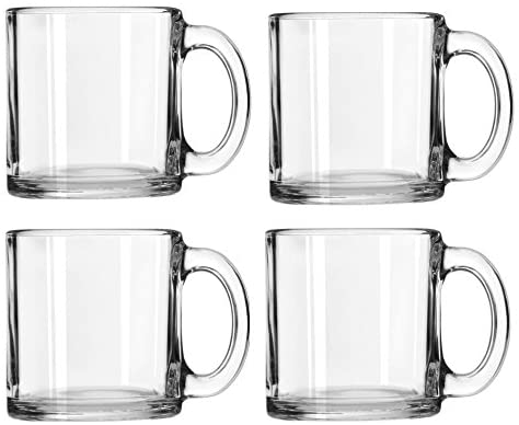 Libbey Crystal Coffee Cups Set of 4 (13 oz)