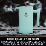 French Press Coffee Maker with Silicone Sleeve