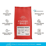Coffee Bros., Whole Bean, Espresso Roast, 100% Arabica, 12oz Bag, Gourmet, Great Holiday Gift