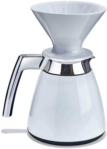 Ratio Thermal Carafe with Porcelain Dripper - White