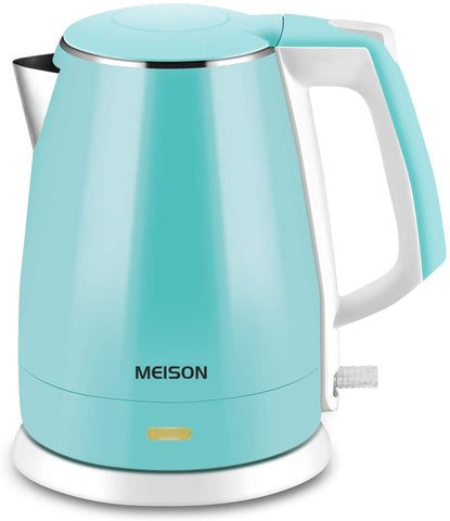 MEISON Electric Kettle w/Double Wall Hot Water Boiler