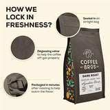Coffee Bros, Whole Bean, Dark Roast, 100% Arabica, 12oz Bag, Gourmet, Great Holiday Gift