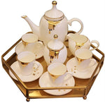 YF-CHEN Pots Ceramic Coffee Set European/American Afternoon Tea Set Living Room Home Tray Decorations