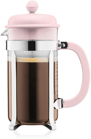 Bodum Caffettiera French Press 34oz, Light Pink