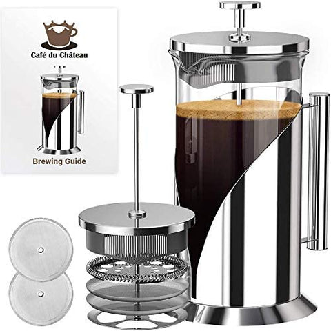 French Press Coffee Maker w/ 4 Level Filtration System